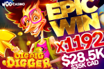 Over 28K$ won in just a few minutes: Dig Dig Digger slot by BGaming gifts players with explosive winnings!